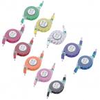 выдвижной тканые плетеные ткани микро-модальных USB кабель синхронизации данных зарядное устройство для Galaxy S3 S4 S5 HTC Android телефон