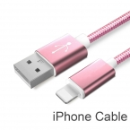 Новые Красочные Линии Нейлона и Металлический Штекер Кабель Micro Usb для iPhone 6 6 s Плюс 5S 5 iPad mini/Samsung/Sony/HTC