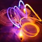 6 цвета красивые 1 м из светодиодов свет прочный микро USB кабель зарядное устройство синхронизации данных для Samsung Galaxy S3 S4 S5 HTC Android телефон