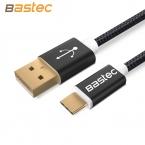 Bastec Оригинальный USB Type C Кабель Линии Нейлона и Металла Разъем Типа С USB для Xiaomi 4C/Leshi/Nokia N1/ZUK-ZE и т. д.