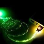 Из светодиодов микро-usb-кабель 7 цвета красивые 1 м свет прочный Microusb заряда r синхронизации данных для Samsung для HTC для Android телефон
