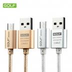 Гольф Micro USB кабель 2A 1 м 1.5 м 2 м 3 м металл плетеный шнур синхронизации данных провода зарядное устройство для Samsung Galaxy S4 S3 HTC Microusb