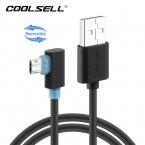 COOLSELL Реверсивный Левый Правый Угол 8 Pin USB Кабель Micro Usb 90 градусов Быстрой Зарядки Синхронизация Данных Шнуры для iPhone 5 6 Samsung LG