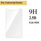 Премиум Настоящее  9 9н 2.5D Универсальный 4.5 4.7 5 5.3 5.5 дюймов Телефон Закаленное Стекло-Экран Протектор Пленка для HTC ZTE