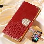 Роскошный PU кожаный бумажник чехол для Nokia Lumia 635 630 откидная крышка сияющий кристалл bling-деко чехол с карт памяти