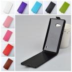 Для Nokia Lumia 730 735 Case Марка Высокое Качество ПУ Кожа Для Nokia 730 Случае Защиты Кожи Flip Vertical Случаи Телефона