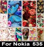 Красочные Блестящий Розовый Пион Цветы Окрашены Телефон Случаях Жесткий Задняя Обложка Чехол Для Microsoft Nokia Lumia 535 Телефон Сумки Кожи