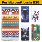Чехол 535, ультратонкий приталенный окрашенный милый прекрасный комикс ультрафиолетовый принт жёсткая чехол для Microsoft Lumia чехол