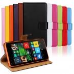 Подлинная кожи сальто бумажник чехол для Microsoft Lumia 640 с подставкой функции и держатели