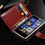 Ретро книга стиль искусственная кожа чехол для Nokia Lumia 520 роскошные стенд бумажник дизайн обложки с карт памяти