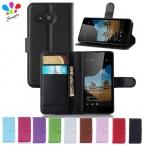 Роскошный кошелек кожаный чехол для Microsoft Nokia Lumia 550 чехол сотовый телефон оболочки задней крышки с держателем карты стенд и подарок