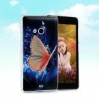 Высокое качество ультратонкий тонкий окрашены мода пейзажи симпатичные прекрасная бабочка твердый переплет чехол для Microsoft Nokia Lumia 535 чехол