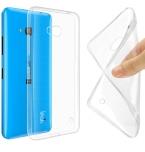 Для Microsoft Lumia 535 532 435 640 640XL чехол крышка, 0.6 мм тпу чехол супер тонкий мягкий назад чехол телефон чехол