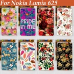 Чехол, горячая 11 узоры живопись красивый цветок чехол для lumia 625 / своими руками окрашенный чехол lumia 625 N625 NOKIA 625