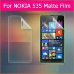 """3 шт. Анти-Отпечатков Пальцев передняя матовый фильмы Для nokia Microsoft Lumia 535 5 """"с антибликовым покрытием матовый экран протектор фильм с чистой тканью"""