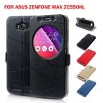 Для Asus Zenfone Макс Кожаная Сумка Обложка Смарт Стойки Кожи Защитный Чехол для Asus Zenfone Max ZC550KL 5.5-дюймовый
