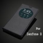 Для ASUS Zenfone 2 умный вид из окна быстрый круг чехол аккумулятор задняя крышка флип кожаный чехол для ASUS Zenfone 2 ZE551ML ZE550ML