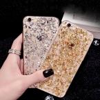 Золото шику блестка для iPhone 6 6 S чехол блесток кожи ясно мягкие TPU коке для iPhone 6 плюс 6 S плюс роскошный крышка