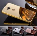 Роскошные Зеркало Гальванических Алюминий Металл телефон Случаях Тонкая Рамка Защитный Hard cover для Huawei honor 5x Задняя Крышка