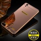 Роскоши зеркальный эффект чехол для Lenovo лимон K3 A6000 твердого металла алюминиевая рама задняя крышка для Lenovo K3 корпус мобильного телефона
