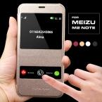 Роскошные коке для MeiZu M2 примечание чехол жесткий назад кожа мобильный телефон флип кожаный чехол для MeiZu M2 примечание окна смарт призвание