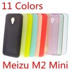 Meizu M2 Mini Случае 5 дюймов Ultra Slim Fit 0.5 мм Мягкий прозрачный и Матовый Тпу Телефон Обложка для Meizu M2 Mini