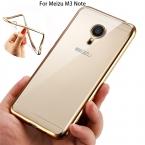 Ультратонкий розового золота плакировкой кристально чистый чехол для MEIZU M3 примечание роскошные мягкой тпу задняя крышка чехол для синий очарование Note3