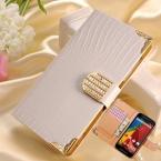 Бумажник Сияющий Кристалл PU Кожаный Чехол для Motorola Moto G2 Moto G   1 XT1063 XT1068 XT1069 Bling Горный Хрусталь Пряжки откидная Крышка