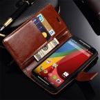 Ретро книга стиль искусственная кожа чехол для Motorola Moto G2 XT1068 XT1069 роскошные стенд бумажник крышка с карт памяти