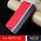 Сотовый Телефон Дело Чехол Для Motorola Moto X2 X   1 XT1097 () роскошные Флип Кожаный Бумажник Карты Держатель Жесткого Кожи Для Moto X2 Случае
