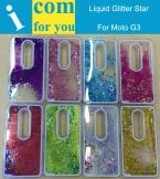 Динамически Жидкостное Блеск Звезды G3 Песок Плывун Чехол Для Motorola Moto G 3-го поколения Gen 3