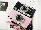 Год Сбора Винограда способа Корейский Розовый Черный Камеры Телефона Чехол для OPPO R9/R9 Плюс Задняя Крышка новый Капа с Подставкой держатель