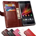 Z2 L50 Luxury Vintage Wallet Стенд PU Кожаный Чехол для Sony Xperia Z2 C770x L50 L50W D6503 Обложка Сумка С Карты Держатель