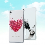 20 Pattern Чехол для Sony Xperia Z3 5.2 ''Цветок Сердце Рыбы Живопись Прозрачный Жесткий Пластик Телефон Задняя Крышка Защитная