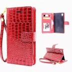 Роскошные Аргументы за Бумажника Sony Xperia M4 Aqua/M5 Откидная Крышка мешок Крокодил Кожа Pu Телефон Сумки Случаи для Sony Xperia M5/M4