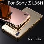 Роскошный алюминиевый металлический гибридный чехол для Sony Xperia Z L36H C6603 зеркального защитная крышка для Sony Z L36H телефон оболочки