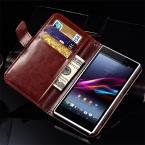 Кошелек стиль PU кожаный чехол для SONY Xperia Z1 L39H C6903 C6906 старинный телефон сумка с подставкой и слот для карт