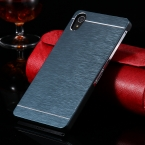 Сверхтонкий кисти металла алюминиевая чехол для Sony Xperia Z2 C770x L50W D6502 D650 D6503 жесткий защитный Z2 задняя крышка с логотипом