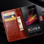 Старинные искусственная кожа чехол для SONY Xperia C S39H C2305 роскошный кошелек с флип-крышкой стенд стиль телефон сумка обложка черный коричневый