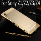 Роскошный Алюминиевый Металлический корпус Для Sony Xperia Z1 L39H/Z2/Z3/Z4 жесткий Зеркало влияние Гибридный Протектор задняя крышка для sony Z1 Z2 Z3 Z4