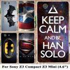 (Ни для Z3) капитан америка супермен бэтмен Телефон Чехлы Для Sony Xperia Z3 compact z3 mini D5803 D5833 Крышки Случая Shell
