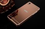 Роскошный Алюминиевый покрытие Зеркало чехол для Sony Xperia Z Z1 Z2 Z4 Z5 Z3 Z5 компактный премиум M4 аква M5 C5 Металлический Каркас ПК Задняя Крышка