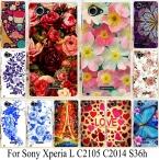 Цветок Чехлы Для Sony Xperia L S36H C2105 C Обложка Телефон Случаях S36h Жесткого Пластика Задняя Крышка Корпуса