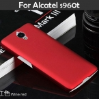 Красочные Нефть покрытием Тонкий Матовый Матовый сотовый телефон Дело Чехол для tcl s960 Onetouch Alcatel One Touch Idol X, 6043D s960t капот XJQ