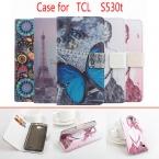 5 Стили Роскошные Окрашенные PU Кожаный Чехол Обложка Для Alcatel One Touch Idol Мини 6012X 6012A 6012 Вт Флип чехол для TCL S530T крышка