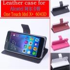 мода новый высокое качество флип кожаный чехол для TCL S960 Alcatel One Touch идола X   6043D чехол обложка   бесплатная доставка