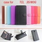 Личи TCL 3 S M3G чехол крышка, Высокое качество новый кожаный чехол   твердый переплет для TCL 3 S M3G мобильного телефона чехол в наличии