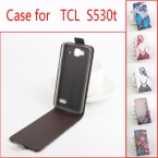 5 Стили Окрашенные PU Кожаный Чехол Чехол Для Alcatel One Touch Idol Мини 6012X 6012A 6012 Вт Флип Чехол Для TCL S530T Обложка в на складе
