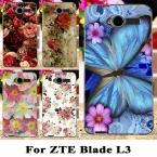 Цветок Жесткие Пластиковые Крышки Телефон Случаях Для ZTE Blade L3 Крышкой Чехол Для ZTE L3 L 3 5 inch Случай Мобильного Телефона Shell