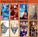 Для ZTE Blade X5 D3 Чехол Идеально Подходит Дизайн Мягкой Тпу Задняя Крышка чехол Для ZTE Blade X5 Телефон Случаях Обложка С Сова Тигр Роуз Sheer
